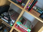 Plenty of board games you can take to the bungalow or play in the games room