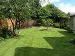 fully enclosed private garden area, great for children and dogs!