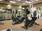 Don't miss a workout in the large well stocked gym