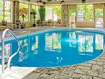 Enjoy a swim no matter the weather, in the indoor pool