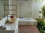 Garden Bathroom with open shower