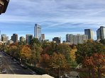 Gorgeous view of Boston from private balcony.