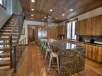 Kitchen & Breakfast Bar: Breakfast bar seats 6 comfortably.  Kitchen has tons of counter space.
