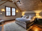 Master Bedroom: King Sized Bed, Fireplace, 50' HD TV with Direct TV