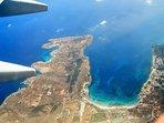 Flying above Mellieha Bay