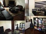 Mezzanine de la Villa : De nombreux jeux : Meuble Hifi, jeux vidéos, jeux de société, guitare, livre
