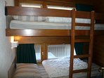 Corner for sleep with 1 bunk bed
