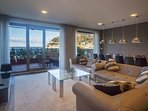 Living room with views to the sea