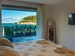 Main suite room with views to the sea