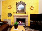 living Room, chimney, villa romana granada, wifi, fireplace,