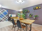 Feature walls give the decor distinction