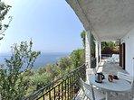 Villa ERIKA + Casa VERONICA. Lato mare della veranda panoramica coperta .