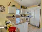Granite Counter tops in your fully equipped kitchen