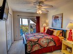 Queen bedroom, with HD TV & ocean view