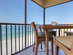 Arie Dam 503 is direct Gulf front and features a screened balcony with views
