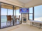 What TV or watch for dolphins, you can do both at Arie Dam 503 in Madeira Beach!