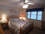 Queen Bedroom in lower level (summer)