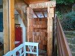 new outdoor wet room