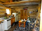 Inside the Cozy one room Cabin