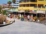 Sea front restaurants by the marina