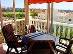 The lovely sunny balcony
