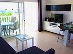 The lovely open plan living area
