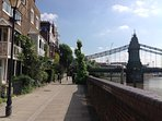 The River Thames, Hammersmith - a few minutes walk away...