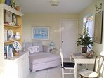 Sunroom can double as an extra bedroom.