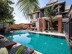 Baan Suay Tukta | 5 Bed Tropical Pool Villa near Jomtien Beach Pattaya