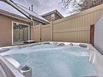 Take a soak in your own private hot tub.