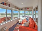 Spend downtime in the sun room, admiring breathtaking ocean views!