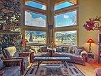 Floor-to-ceiling windows let in abundant light.