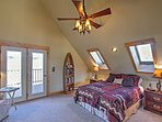 The upstairs bedroom offers a comfortable place to rest your head.