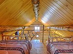 The lofted area of the sleeper cabin is perfect for additional sleeping options.