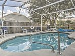 You're sure to have fun in the sun when splashing around in the private pool in the backyard.