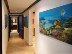 Coral Cove 3 - Hallway with Tropical Art