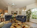 Vaulted ceilings provide feeling of spaciousness throughout.