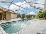 This meticulously maintained home boasts a gorgeous heated pool & spa with tranquil lake views.