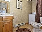 Main Level Powder Room with Washer/Dryer