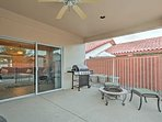 You'll love spending time on the private furnished patio.