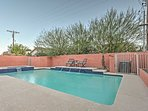 Make a splash in the south-facing pool.