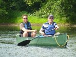 Canoeing on the Wye from Glasbury to Hay on Wye...75 year olds to 2 year old have enjoyed this