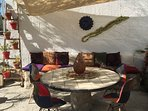 Our beautiful terrace in Summer which you are welcome to share. you have your own private terrace