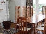 The dining room has a Charles Rennie Mackintosh design theme