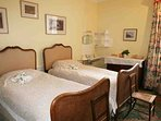 This twin-bedded room is located on the first floor
