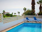 The villa benefits from a large private pool that can be heated if required, for a supplement