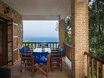 Capypso's lower balcony & sea view