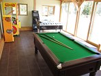 Games Room with football table, pool table and quiz machine - coin operated
