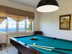 Professional pool table with all the necessary equipment