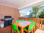 BBQ and dining at open deck